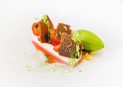 Hotel-Aigue-marine-2019-Restaurant-Dessert-Entremet-fraise-Sorbet-aux-herbes-Minis-207-400x284